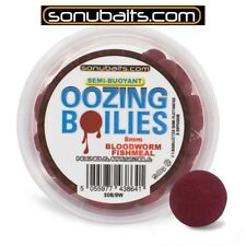 50g SONUBAITS OOZING BOILIES 8mm Mini Boilies Bloodworm Fishmeal 25,58 EUR/100g