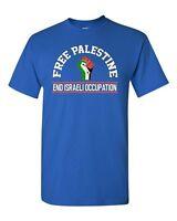 Free Palestine End Israeli Occupation DT Adult T-Shirt Tee