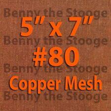 "100% Copper 80 Mesh / 200 Micron Kief / Pollen / Dry Sift Screen 5""x7"""