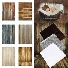3x5ft Newborn Baby Photography Backdrops Vintage Wooden Wall Photo Props Blanket