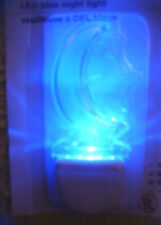 Blue Night Light LED Crescent Moon and Stars Clear 120V AC