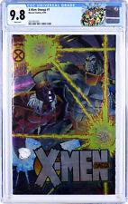 X-MEN: OMEGA #1 ~ CGC 9.8 WHITE Pgs ~ AGE OF APOCALYPSE Chromium Cover (Lot 4 5)