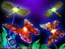 4 X Farbenreich Solar Betrieben Libelle & Schmetterling Garten Lichter Pfahl