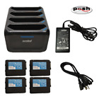 Zebra 4-Slot Charger SAC-TC7X-4BTYC1 for TC70/TC75/TC77  with PS & 4 Batteries!!