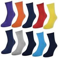 10 Paar Kinder Socken für Jungen & Mädchen - Baumwolle - versch. Farben & Größen