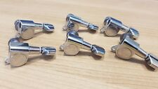 Chrome Fender Logo Tuning Pegs / Machine Heads for Sratocaster / Telecaster