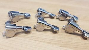 Chrome Fender Logo Tuning Pegs / Machine Heads for Stratocaster / Telecaster