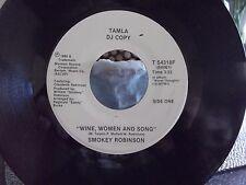 *WLP PROMO* SMOKEY ROBINSONON TAMLA RECORDS WINE,WOMEN AND SONG X 2