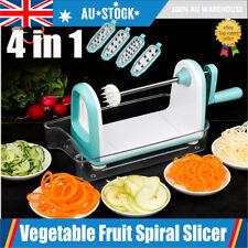 4 in1 Vegetable Fruit Spiral Slicer -Spirooli Raw Food Spiralizer Peelers AU