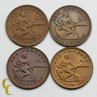 1921-1941 Philippines Centavo Coin Lot of 4, KM# 163, 179