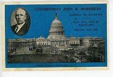 John Morehead for Congress—Rare Antique Nebraska Political PC 1932