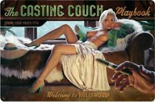Casting Couch Pin-Up Metal Sign ( Greg Hildebrandt )
