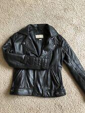 Michael Kors black leather Jacket XS