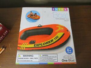 Intex Explorer Inflatable Boat 100 Series Pool Lake River Raft Air One Person
