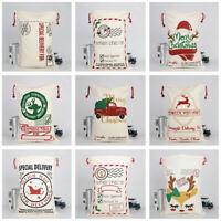 Canvas Bag Housekeeping Large Bag Merry Christmas Stocking Reindeer Storage Bag