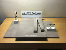 New - Set of Display & Taco Expositor ARNOLD & SON - Watch Montre Reloj - Nuevo
