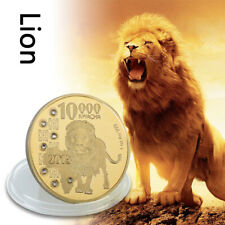 WR Zambia 10000 kwacha Gold Foil Coin 2015 African Lion Wildlife Collections