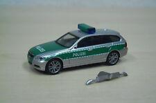 "Herpa - BMW 3er Touring (E91) ""Polizei"" - silber / grün - Nr. 046923 - 1:87"