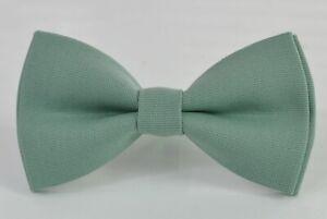 Sage Green Cotton Bow tie for Men Adult  / Teenge / Boy Kids / Baby Toddler