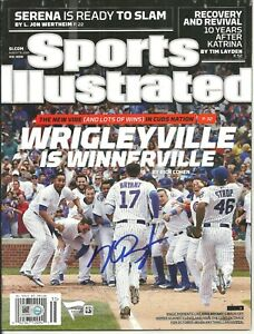 Kris Bryant Autographed Sports Illustrated 8/31/2015 ! Chicago Cubs 1st Cover !