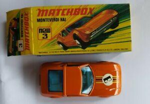 Monteverdi Hai Superfast 3 Matchbox Diecast Vintage Car: