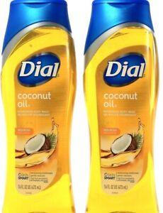 2 Ct Dial Coconut Nourishing Skin Smart Moisturizing Conditioner Body Wash 16Fl