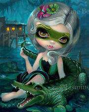 Jasmine Becket-Griffith art print florida swamp southern SIGNED Alligator Girl