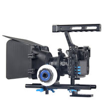 Portable Camera Video Rig Handheld Stabilizer Kit w/ Matte Box Follow Focus