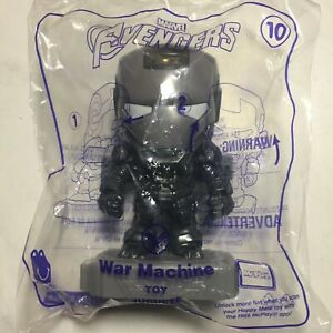 Avengers END GAME 2019 McDonald's Happy Meal Toy - WAR MACHINE #10 Sealed Bag
