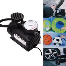 300PSI 12V Car Auto Bike Portable Pump Tire Inflator Mini Air Compressor w/gaug