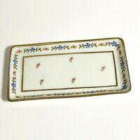 Small Rectangular Trinket Dish Porcelain T&V Tressemann Vogt Limoges France