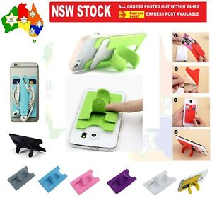 Stick on Credit Card Holder & Stand Student Bus Pass Opal ID Earphone Wallet