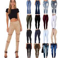 Women Slim Fit Skinny Pants Stretch Jeans Casual Leggings Pencil Long Trousers