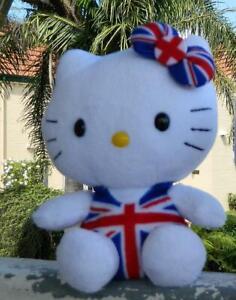 VINTAGE Hello Kitty TY Beanie Plush - Union Jack Suit