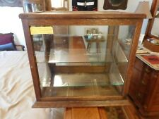 Antique OAK ALL ORIGINAL FINISH & WAVEY GLASS COUNTRY STORE DISPLAY/SHOWCASE