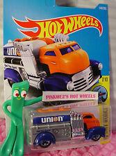 FAST GASSIN #144✰Orange/Gray/Blue;5sp;UNION 76✰✰2017 US Hot Wheels Kmart case F