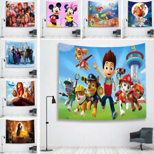 Cartoon Character Background Cloth Painting Wall Hanging Home Decor Tapestry Art