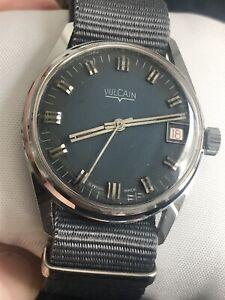 VULCAIN 1960s Mens Vintage Wristwatch