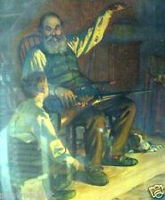 The Old Gun - man and boy - MINI print