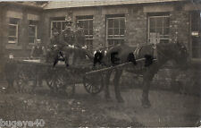 WW1 soldiers & flatbed waggon pulled by horse in harness Horse Drawn Transport
