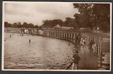 Postcard Clevedon nr Weston Super Mare Somerset swimming pool Bathing Lake RP