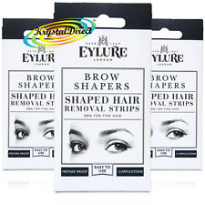 3x Eylure Eyelure Eyebrow Brow Shapers Shaped Hair Removal Wax Strips