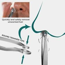 Universal Noses Hair Trimming Tweezers Steel Eyebrow Nose Hair Cut DIY