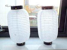 2 JAPANESE M 28cm WHITE LANTERN CHINESE WEDDING SUSHI GARDEN PARTY LIGHTSHADE A3
