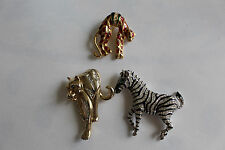 bijoux / lot de 3 broche animalier ref lot 5