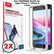 Apple iPhone 8 ZIZO TEMPERED GLASS 3-Pack Screen Protectors + EZ Alignment Frame