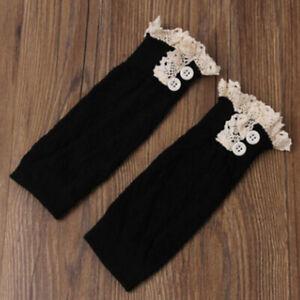 Women Warmer Crochet Knitted Boot Cuff Short Leg Lace Trim Socks Ankle Topper IT