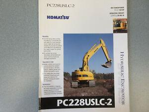 Komatsu PC228USLC-2 Hydraulic Excavator Brochure 4 Page
