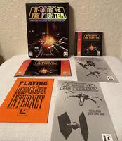 STAR WARS X-Wing Vs. Tie Fighter LucasArts PC CD-Rom Game 1997 Manual Big Box