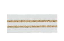 1 m trendiges Ripsband weiß-gold